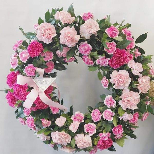 Pink Carnation Wreath